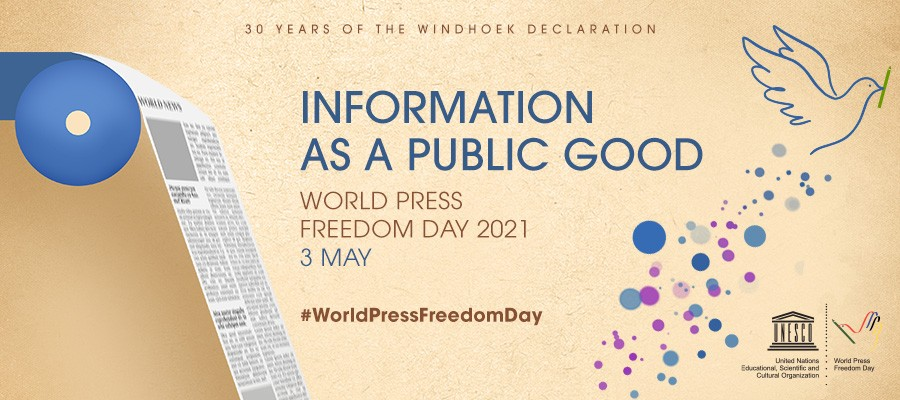 May, the 3rd marks the World Press Freedom Day